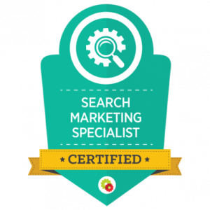 search marketing badge